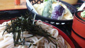 海老天ざる蕎麦ランチ600円